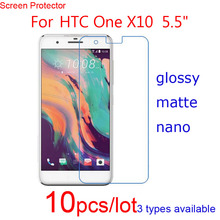 "for HTC One X10 5.5"" SmartPhone Screen Protector shield,10pcs HD Clear/matte/Nano Explosion Proof Guard Protective Films cover"