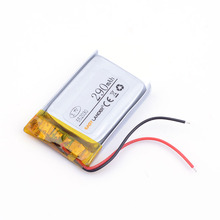 battery lithium polymer battery 552030 3.7v 290MAH discharge Wholesale For MP3 MP4 Smart watch toys DVR Sports headphone(China)