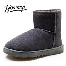 Hemmyi 2017 new unisex winter boots for women warm suede ankle boots botas Plus size 35-45 Australia ug classic style snow boots(China)