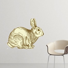 Easter Religion Christianity Festival Black Bunny Culture Sketch Illustration Pattern Removable Wall Sticker Art Decals Mural DI