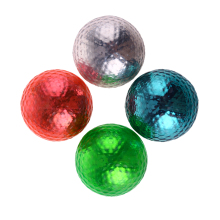 4pcs/set Double Layer Colorful Golf Balls Beginners Practice Driving Range Training Double Layer Ball Rubber High Quality