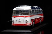 Diecast Bus Model Soviet Union Russian LAZ-697E Tourist 1:43 (White/Red) + SMALL GIFT!!!