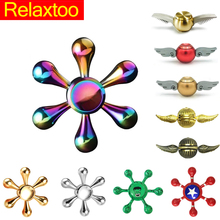 Buy Rainbow Captain America Spinners Metal Fidget Spinner Harry Potter Golden Snitch Toys Children Kids Anti Stress Figet Spiner for $3.35 in AliExpress store