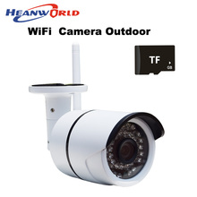 Outdoor Wifi IP camera wireless surveillance IP cam with micro SD slot CCTV Webcam Network Security Camera support mobile phone