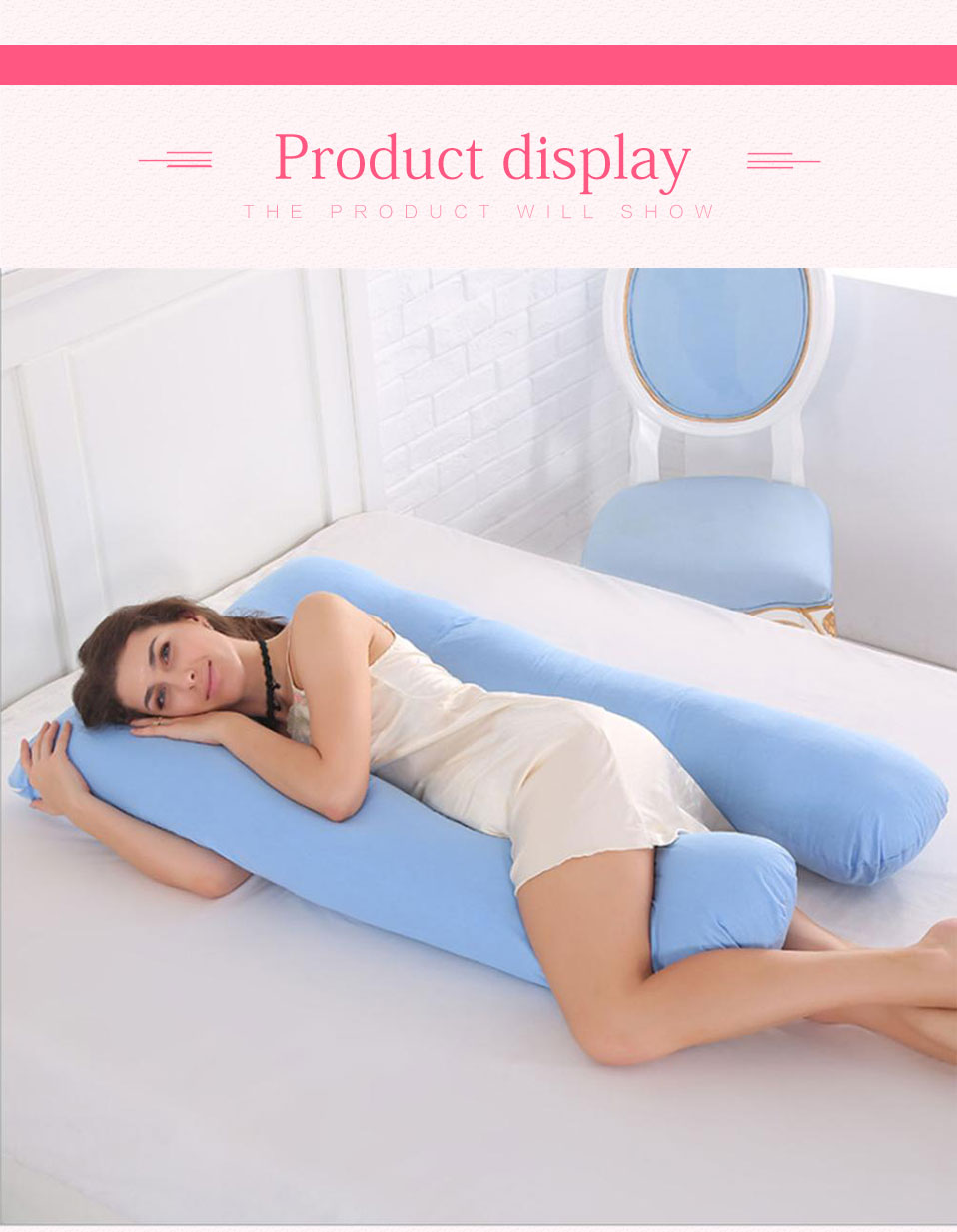 Sleeping Support Pillow For Pregnant Women Body 100% Cotton Pillowcase U Shape Maternity Pillows Pregnancy Side Sleepers Bedding (14)