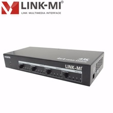 LINK-MI MX05 4x4 HDMI Matrix switcher 8 port hdmi splitter Video 1x4 with RS232 IR,support 3D 4Kx2K EDID HDCP with IR remote