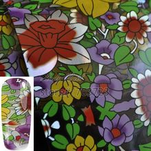 Petunia Sunflowers Water Lily Nail Art Transfer Foil Paper Tip Sticker Nails Craft Decoration New Fashion Design GL46