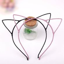 New Fashion Women Cute Cat Kitty Kitten Ears Metal Headband Hair Band Cosplay Party High Quality