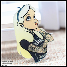 Free shipping 1pcs lovely girl acrylic Accessories Fashion cartoon Brooch Badge Pin Collar brooch Jewelry Gift,Pet cloth,697