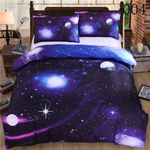 3D Galaxy Polyester 3/4Pcs Bedding Set Dust Ruffle Bedclothes Sets Bedroom Cover Duvet Cover Quilt Cover Flat Sheet Pillowcase(China)