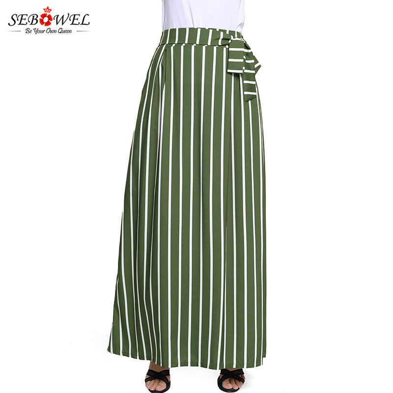 Olive-Green-Striped-Maxi-Skirt-LC65037-9-6