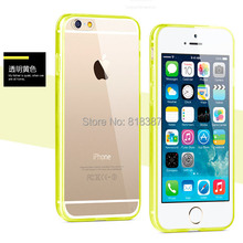 Soft Transparent TPU Flexilble Full Clear Acrylic Case Cover Skin Shell for iPhone 6 6S Plus 5.5 inch With Dust Plug 300pcs/lot