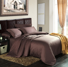100% Egyptian cotton 1200 TC Europe style Dark color bedding sheets Super King size 4 pieces bedding set customize on sale