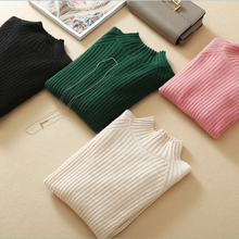 Winter cashmere sweater ladies wool sweater long sleeve women sweater sets round neck warm knitted sweater