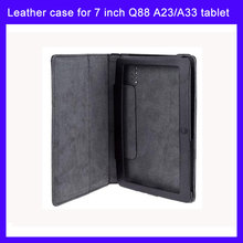 Top quality 7 inch leather case for 7 inch Q88 Allwinner A13,A23,A33, Q88 Tablet case(China)