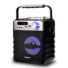 Portable Wireless Bluetooth Audio Speakers AUX Mini FM Radio USB Card Subwoofer Bass Loudspeaker Karaoke 3D Surround Sound Box(China)