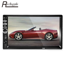 Rectangle 7018B 2 Din Car Video Player 7 inch Bluetooth Touch Screen Car Auto Audio Radio MP5 Player Support Rear View Camera
