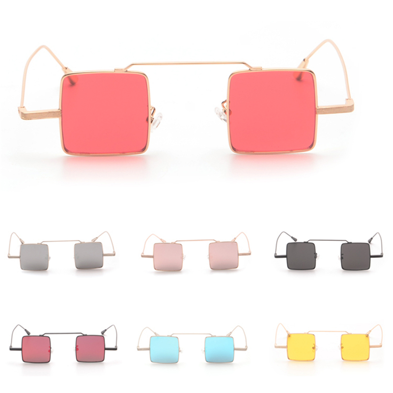 Square Small Nifty Lense Coating Glasses Eyewear Hot New Vintage Fashion Summer Cool Sunglasses Women Men Brand Designer<br><br>Aliexpress