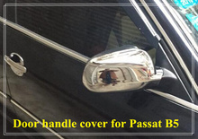 Free shipping! High quality ABS chrome 2pcs side Door Mirror Cover For Volkswagen Passat B5