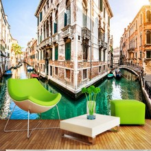 Venice canal 3D backdrop living room lobby bedroom wallpaper high quality bathroom office hotel mural custom wallpaper