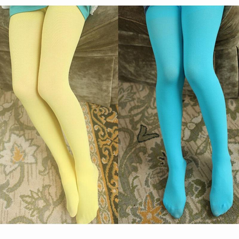 Solid Color Kids Girls Tights Opaque Pantyhose Ballet Stocking Dance Socks KI