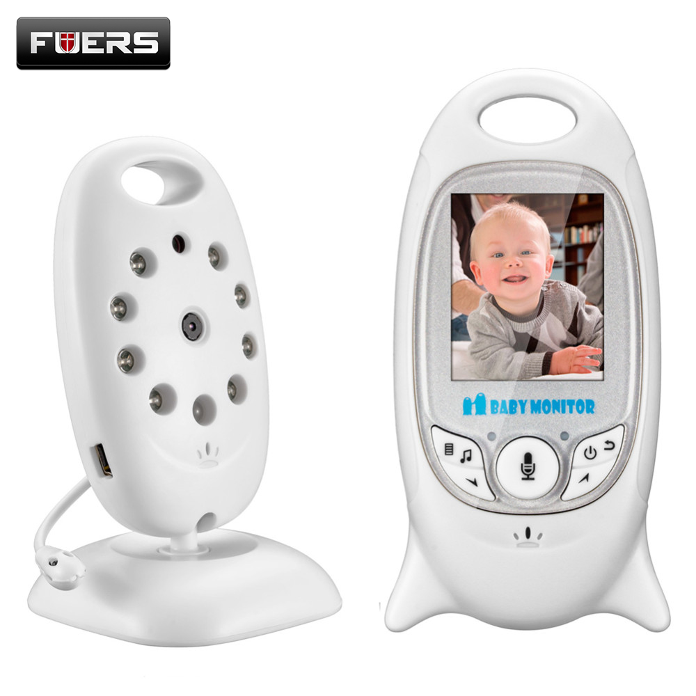 Fuers 2 Wireless Baby Monitor Camera with 8 Lullaby Room Temperature Monitoring 2 Way Talk Portable Video Security Camera <br>