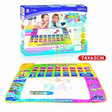 4 color musical water magic drawing board / tablet toys Doodle drawing toys Magic Doodle Mat / music playing mat / game mat