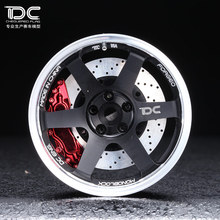 DC FOR 1/10 RC DRIFT CAR ALLOY WHEEL HUB +6 offset TE37TTA TYPE - 4PCS/SET 90180