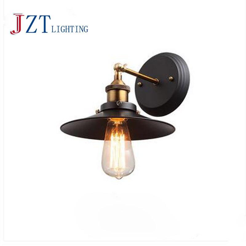 Z American Country Retro Wall Lamp Industrial Warehouse lantern Aisle bedroom lampswall fitting Iron Balcony Bar bracket light<br><br>Aliexpress
