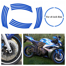 Car&Motorcycles Styling Tire Rim Cover Tyre Rim Decals Tire Protector Hub Wheel Stickers Strip For BMW Honda Suzuki Yamaha