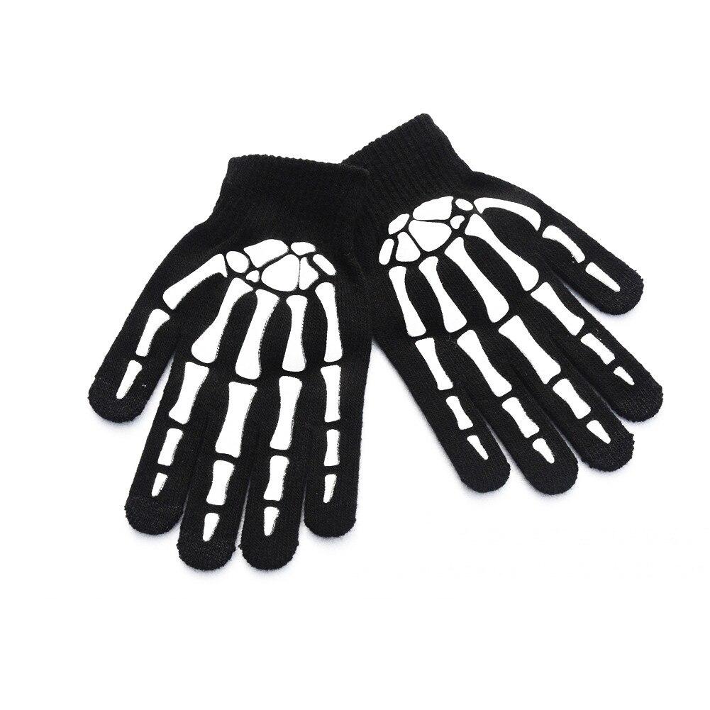 Color Negro y Blanco Calavera//L Minla Outdoor Guantes de equitaci/ón Antideslizantes para Hombre y Mujer
