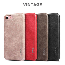 For Apple iPhone 7 Case Leather Ultra thin luxury Slim Phone Retro Case For Apple iPhone 7 Cover Leather Vintage iphone7 7Plus(China)
