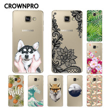 Buy CROWNPRO Painted Soft Silicone FOR Coque Samsung Galaxy A5 2016 Case Cover A510 A510F Phone Back FOR Funda Samsung A5 2016 Case for $1.08 in AliExpress store