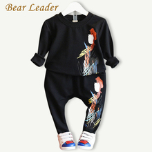 Bear Leader Boys Clothing Sets 2016 Autumn Active Kids Clothing Sets Long-sleeve Pattern Printing T-shirt+Pants 2pcs Boy Clothes