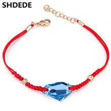 Crystal Red Rope Bracelets Chain Charm Jewelry Fashion Vintage Style Women Bracelets Crystal from Swarovski 19370
