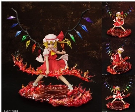 Anime GRIFFON Touhou Project Flandre Scarlet Scarlet Sword Ver. PVC Action Figure Models Toy Figures 25cm Free Shipping<br>