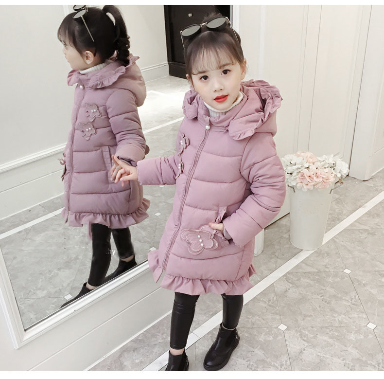 Pink Hooded Ruffles Girls Winter Jackets And Coats Kids Fashion 2019 Cotton Long Warm Parkas Clothing Children Outerwear Padded (10).jpg