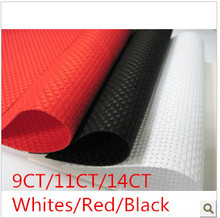Factory Shop Fabric 200X150cm  9CT OR 11CT OR 14CT Whites or Red or Black  Aida Cloth Or Make Any Size Cross Stitch  Canvas