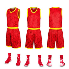 Custom New Men College Team Basketball Jersey Sets Uniforms Kits Sports Clothing Breathable Youth Basketball Jerseys Shorts(China)