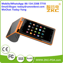 ZKC PC901 Retail Shop Restaurant Use Payment POS Barcode Scanner POS Terminal with Build in Printer(China)