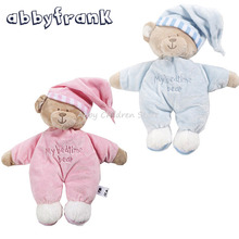 Abbyfrank 40CM Cute Teddy Bear Stuff Plush Pink Animal Bear Dolls Soft Stuffed Plush Animals Dolls Baby Birthday Gifts Toys