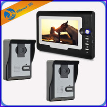 FREE SHIPPING New 7 inch TFT LCD Monitor Video Door phone Intercom System With 2pcs Night Vision Outdoor Camera IN Stock