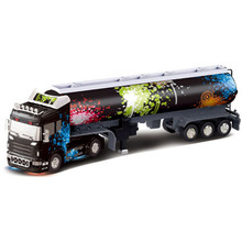 Big Remote Control Big Size Kingtoy 1:32 RC 6CH container heavy truck with lights and sounds free shipping Car(China)