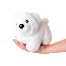 7'' Lovely Collection White Polar Bear Plush Toy Small Charms Stuffed Animal Simulation Bear Plush Doll Toys Best Gifts for Kid