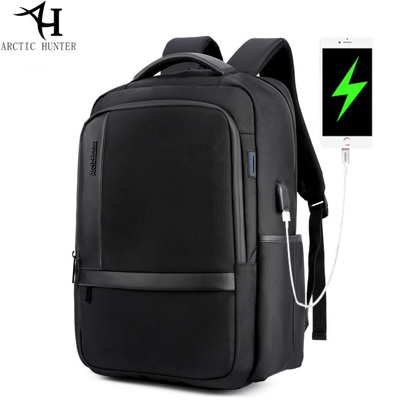 ARCTIC HUNTER Brand External USB Charge Backpack Male Mochila Escolar 15.6 inch Laptop Backpack men Urban Backpack for teen<br>