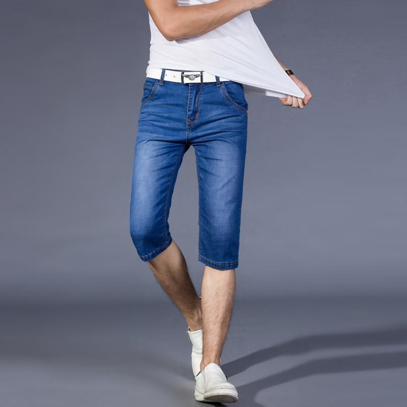 new summer men s Stretch cotton jeans Korean elastic straight jeans men s fifth pants 513Одежда и ак�е��уары<br><br><br>Aliexpress