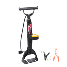 LIETU Bicycle Floor Pump With Gauge 120PSI High Pressure Bike Tire Pump Inflator for Road Bike MTB Mountain Bicycle