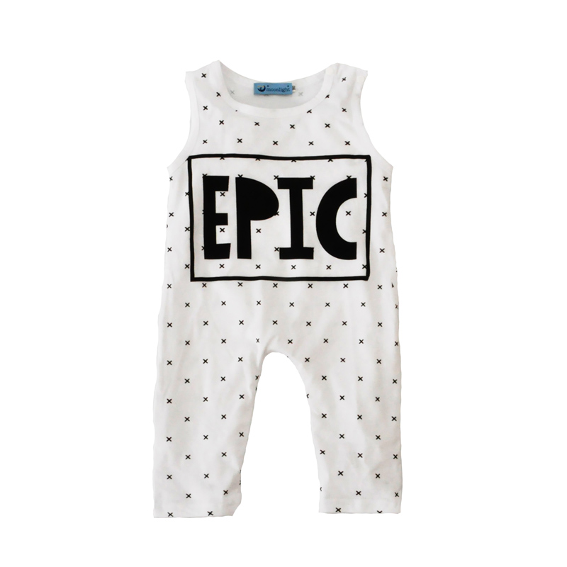 toddler boy romper 2017 summer style cross baby boys jumpsuit rompers EPIC letter sleeveless newborn romper baby clothes brand<br><br>Aliexpress