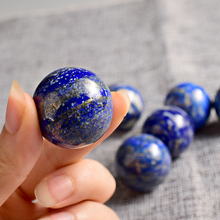 Lapis Lazuli handmade Crystal Sphere 1 pcs 30 mm Gemstone Hand Massager Crystal ball for decoration natural stone healing(China)