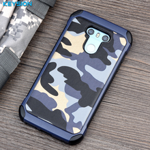 KEYSION Phone Case for LG G6 Army Camo Camouflage Pattern PC+TPU 2 in1 Anti-knock Protective Back Cover for LG G6 H870 H870DS(China)